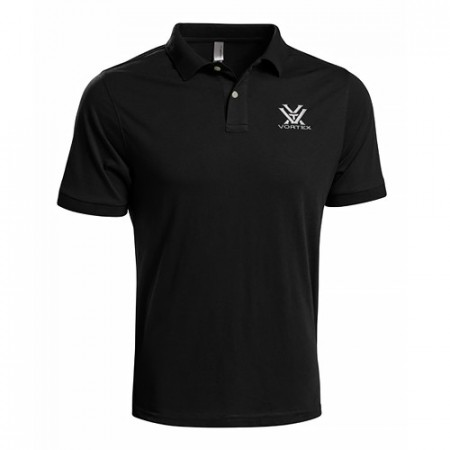 Vortex Black Polo Shirt