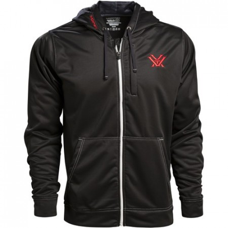Vortex Black Zip-Up Hoodie